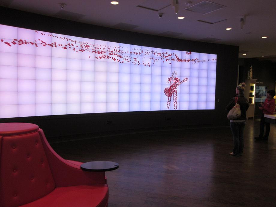 decane interative video wall kinect